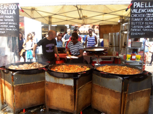 Huge vats of Paella!