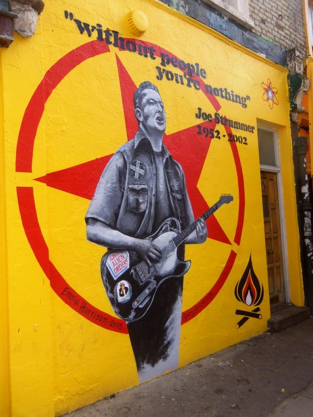 Joe Strummer (The Clash) mural by artist Emma Harrison