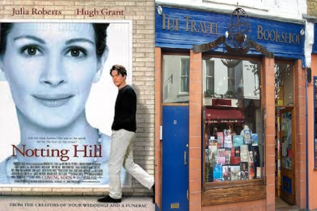 Notting Hill, Dir. Roger Michell, Universal Pictures,1999; The Travel Book Shop