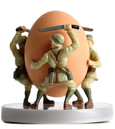 Novelty Soldier Egg Cup