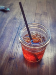 To top it off, Iced Tea in A Mason Jar
